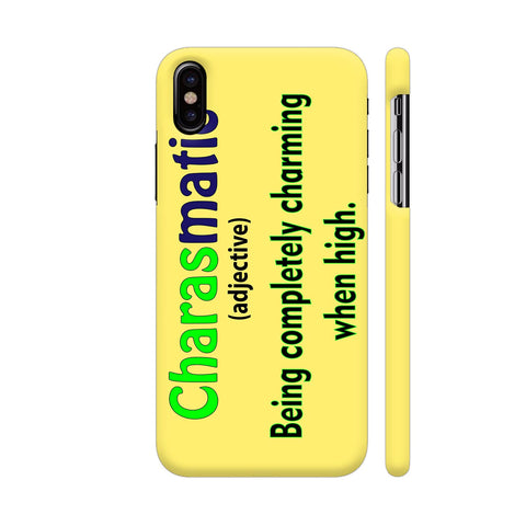 Charasmatic On Yellow iPhone X Cover | Artist: Malls