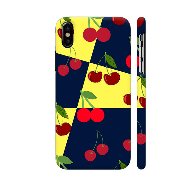 Cherry Pattern iPhone X Cover | Artist: Malls