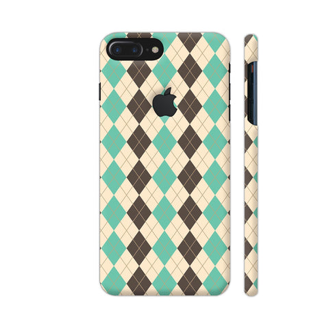 Chocolate And Mint Rhombus Pattern iPhone 7 Plus Logo Cut Cover | Artist: Adeela Abdul Razak