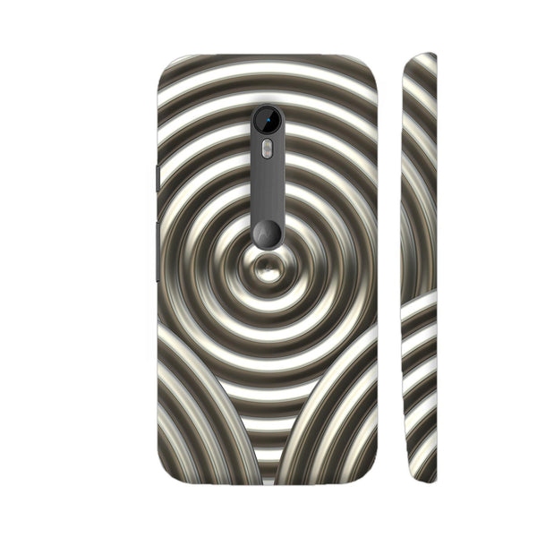 Chrome Circle Metal Print Moto G Turbo Cover | Artist: LebensART