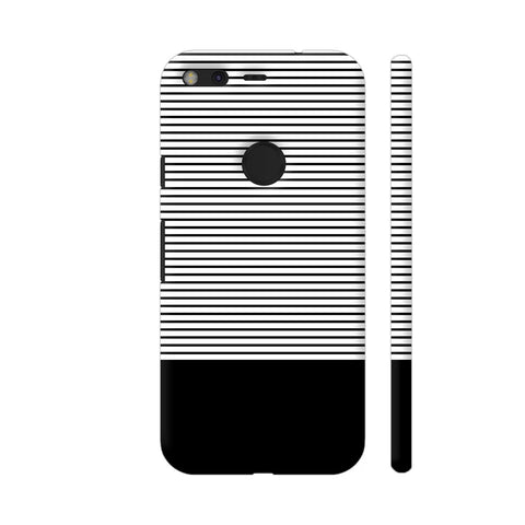 Classy Black Strips Google Pixel Cover | Artist: Astha