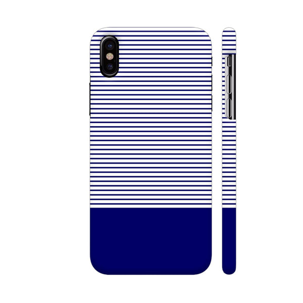 Classy Blue Strips iPhone X Cover | Artist: Astha