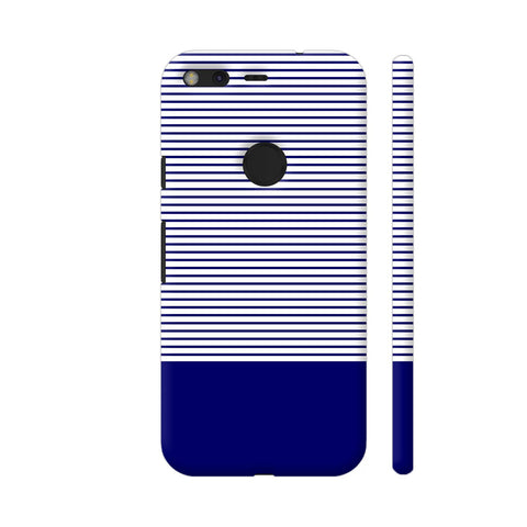 Classy Blue Strips Google Pixel Cover | Artist: Astha