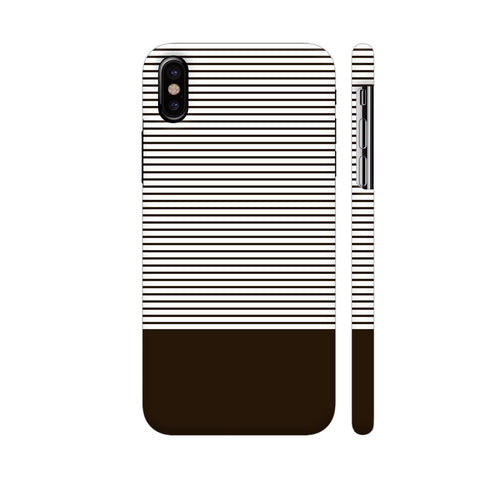 Classy Chocolate Brown Strips iPhone X Cover | Artist: Astha