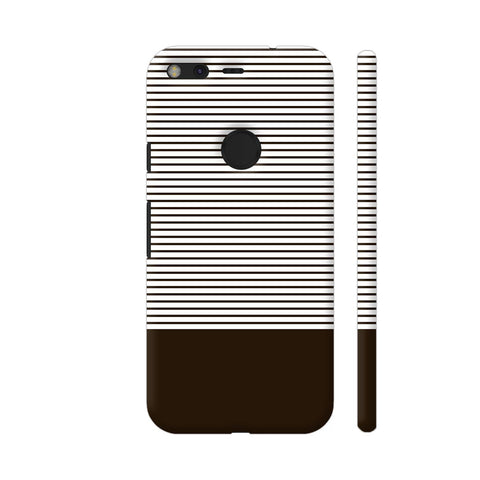Classy Chocolate Brown Strips Google Pixel Cover | Artist: Astha
