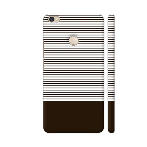 Classy Chocolate Brown Strips Xiaomi Mi Max Cover | Artist: Astha