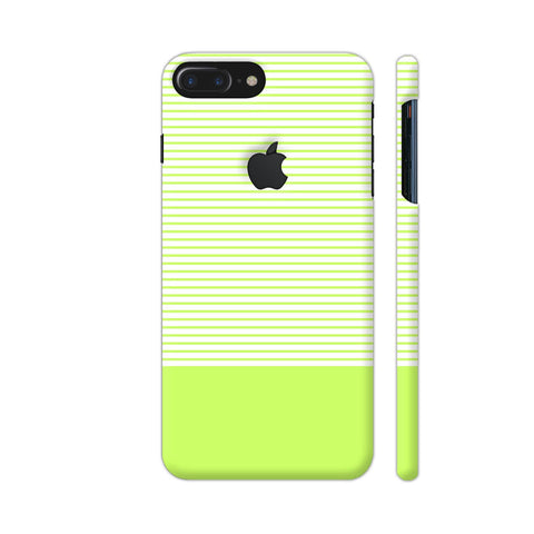 Classy Green Strips iPhone 7 Plus Logo Cut Cover | Artist: Astha