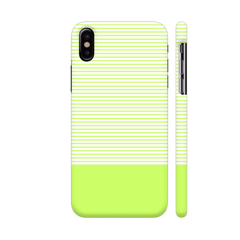 Classy Green Strips iPhone X Cover | Artist: Astha