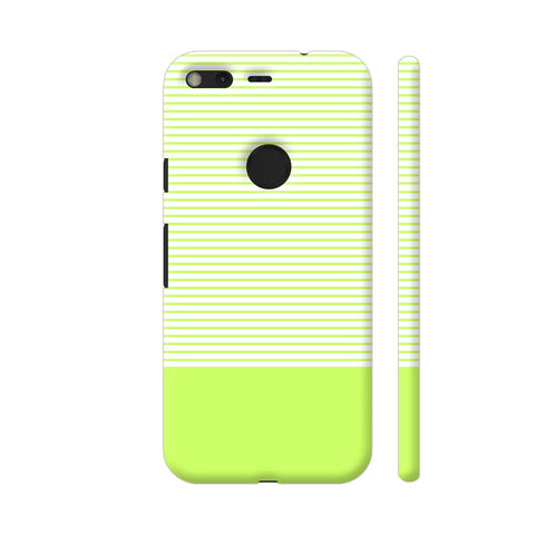 Classy Green Strips Google Pixel Cover | Artist: Astha