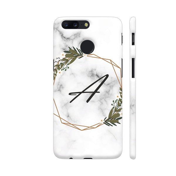 Classy Letter A On Marble Print OnePlus 5T Cover | Artist: Astha