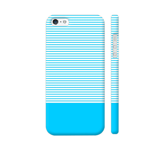 Classy Light Blue Strips iPhone 5 / 5s Cover | Artist: Astha
