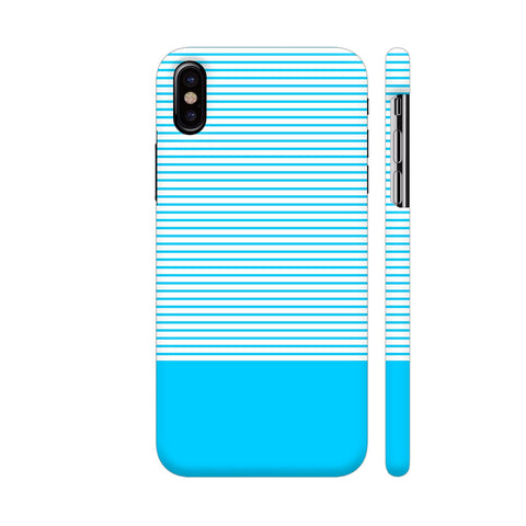 Classy Light Blue Strips iPhone X Cover | Artist: Astha