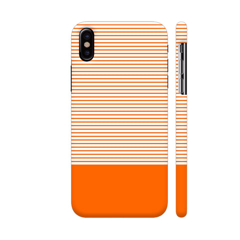 Classy Orange Strips iPhone X Cover | Artist: Astha