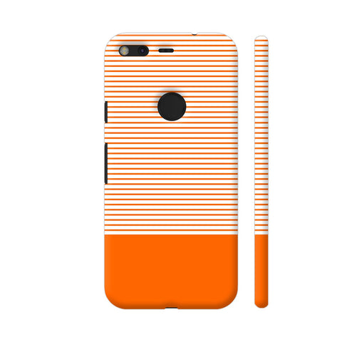 Classy Orange Strips Google Pixel Cover | Artist: Astha
