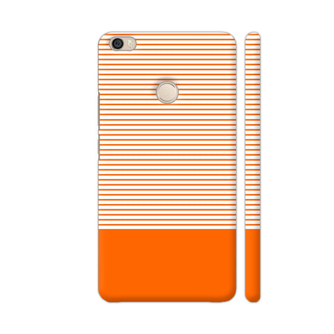 Classy Orange Strips Xiaomi Mi Max Cover | Artist: Astha