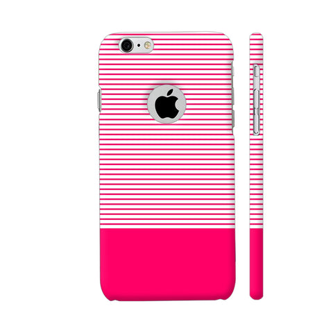 Classy Pink Strips iPhone 6 / 6s Logo Cut Cover | Artist: Astha