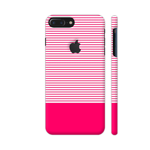 Classy Pink Strips iPhone 7 Plus Logo Cut Cover | Artist: Astha