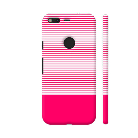 Classy Pink Strips Google Pixel Cover | Artist: Astha