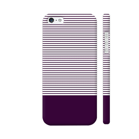 Classy Purple Strips iPhone 5 / 5s Cover | Artist: Astha
