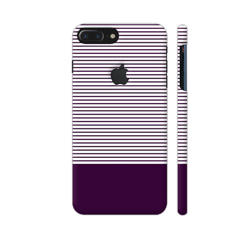 Classy Purple Strips iPhone 7 Plus Logo Cut Cover | Artist: Astha