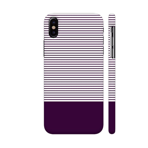 Classy Purple Strips iPhone X Cover | Artist: Astha