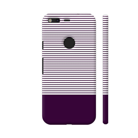 Classy Purple Strips Google Pixel Cover | Artist: Astha