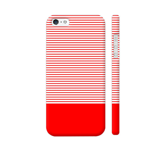 Classy Red Strips iPhone 5 / 5s Cover | Artist: Astha