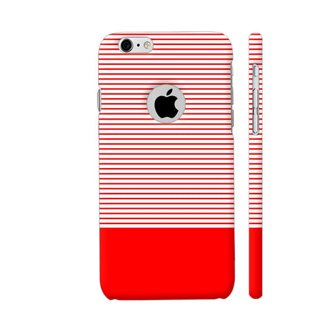 Classy Red Strips iPhone 6 / 6s Logo Cut Cover | Artist: Astha
