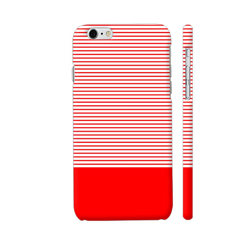 Classy Red Strips iPhone 6 / 6s Cover | Artist: Astha