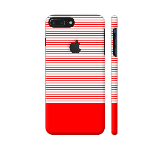 Classy Red Strips iPhone 7 Plus Logo Cut Cover | Artist: Astha