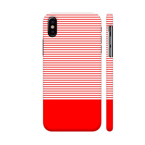 Classy Red Strips iPhone X Cover | Artist: Astha