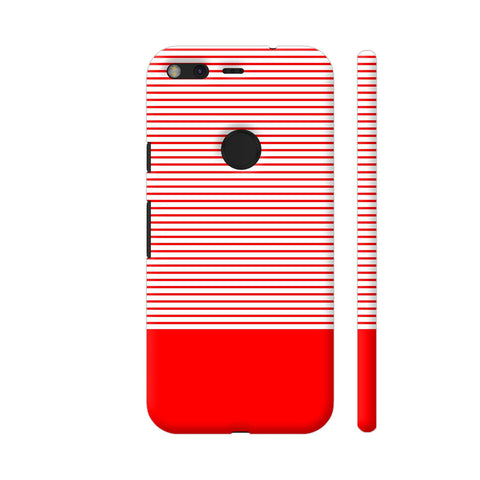 Classy Red Strips Google Pixel Cover | Artist: Astha