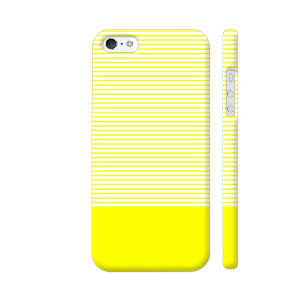 Classy Yellow Strips iPhone SE Cover | Artist: Astha