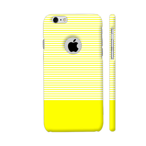 Classy Yellow Strips iPhone 6 / 6s Logo Cut Cover | Artist: Astha