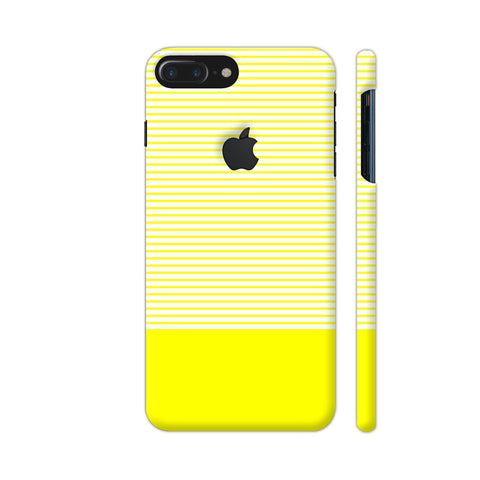 Classy Yellow Strips iPhone 7 Plus Logo Cut Cover | Artist: Astha