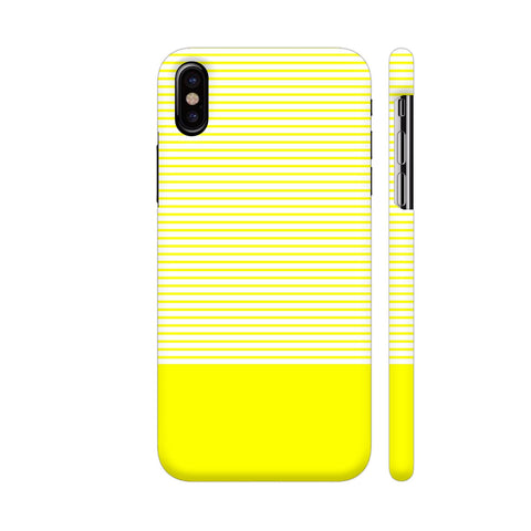 Classy Yellow Strips iPhone X Cover | Artist: Astha