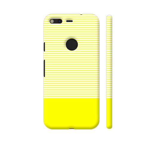 Classy Yellow Strips Google Pixel Cover | Artist: Astha