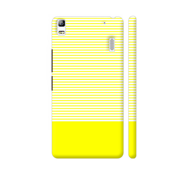 Classy Yellow Strips Lenovo K3 Note Cover | Artist: Astha