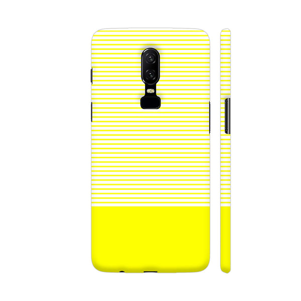 Classy Yellow Strips OnePlus 6 Cover | Artist: Astha