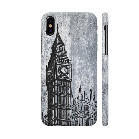 Clock Tower iPhone X Cover | Artist: Kiran Maurya