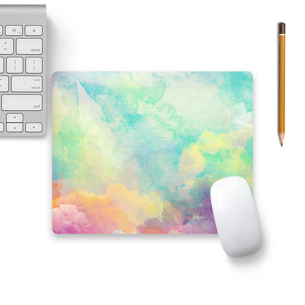 Clouds Painting Mouse Pad Beige Base