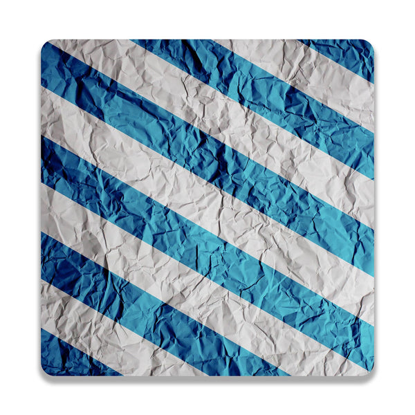 Colorburn Blue Wooden Square Coaster | Artist: Abhinav