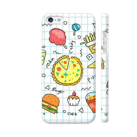 Colorful Fast Food Doodle iPhone SE Cover | Artist: Ashish Singh