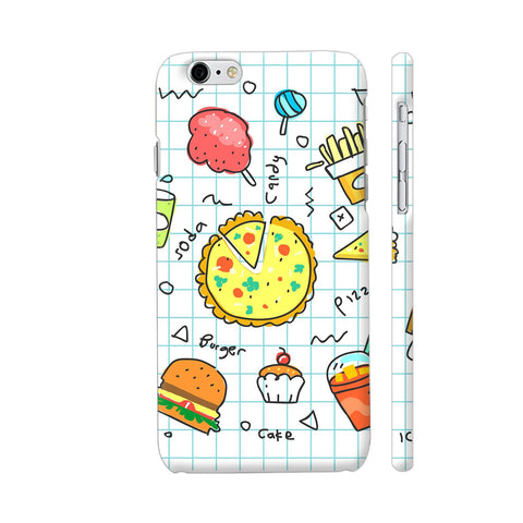 Colorful Fast Food Doodle iPhone 6 Plus / 6s Plus Cover | Artist: Ashish Singh