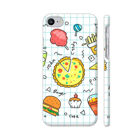 Colorful Fast Food Doodle iPhone 7 Cover | Artist: Ashish Singh