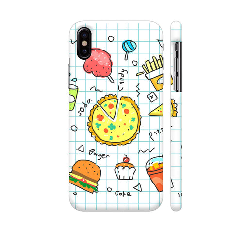 Colorful Fast Food Doodle iPhone X Cover | Artist: Ashish Singh
