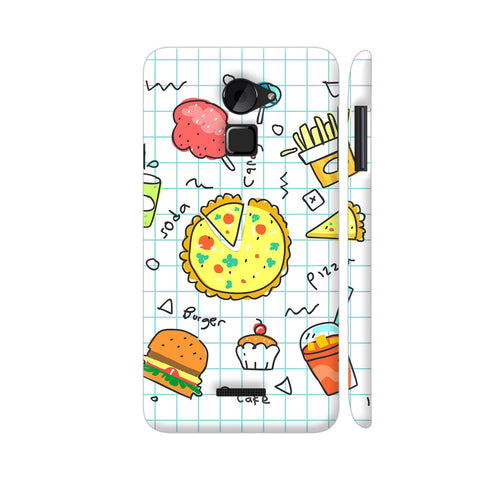 Colorful Fast Food Doodle Coolpad Note 3 Lite Cover | Artist: Ashish Singh