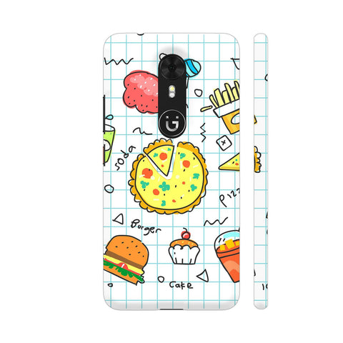 Colorful Fast Food Doodle Gionee A1 Cover | Artist: Ashish Singh