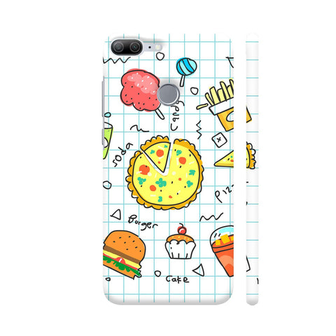 Colorful Fast Food Doodle Honor 9 Lite Cover | Artist: Ashish Singh