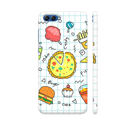 Colorful Fast Food Doodle Honor View 10 Cover | Artist: Ashish Singh